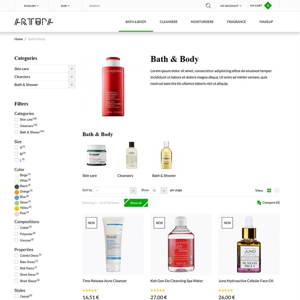 theme - Health & Beauty - Artupa Cosmetics - 4