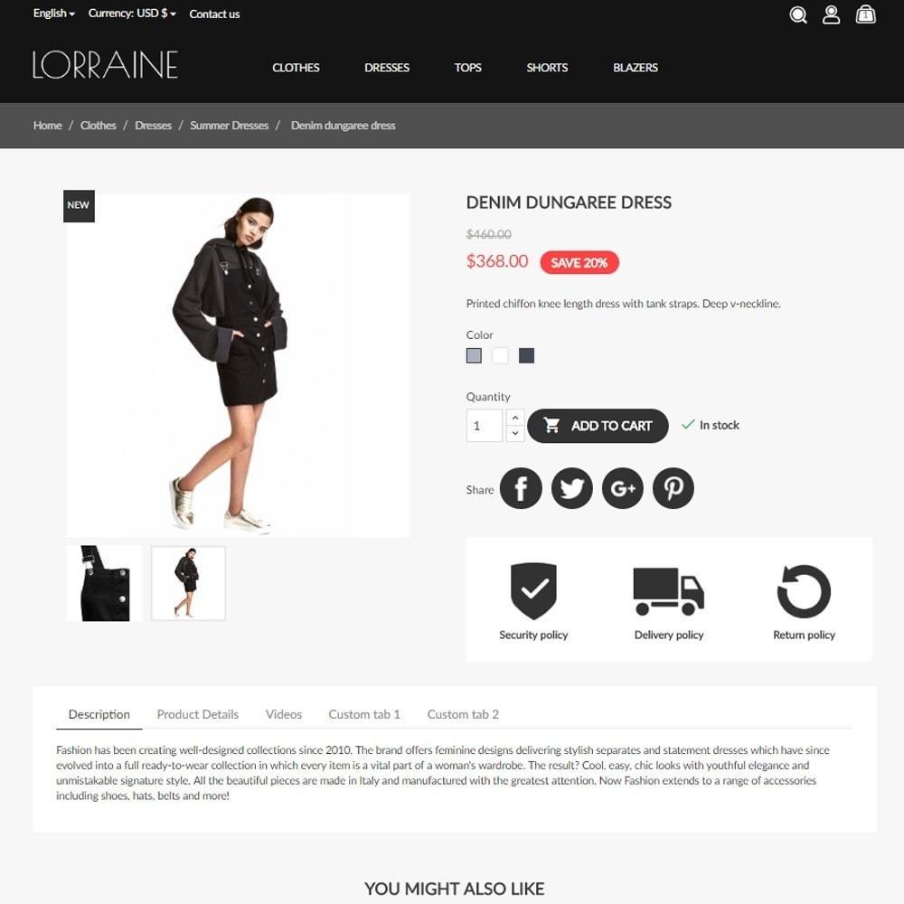 theme - Fashion & Shoes - Lorraine Fashion Store - 6