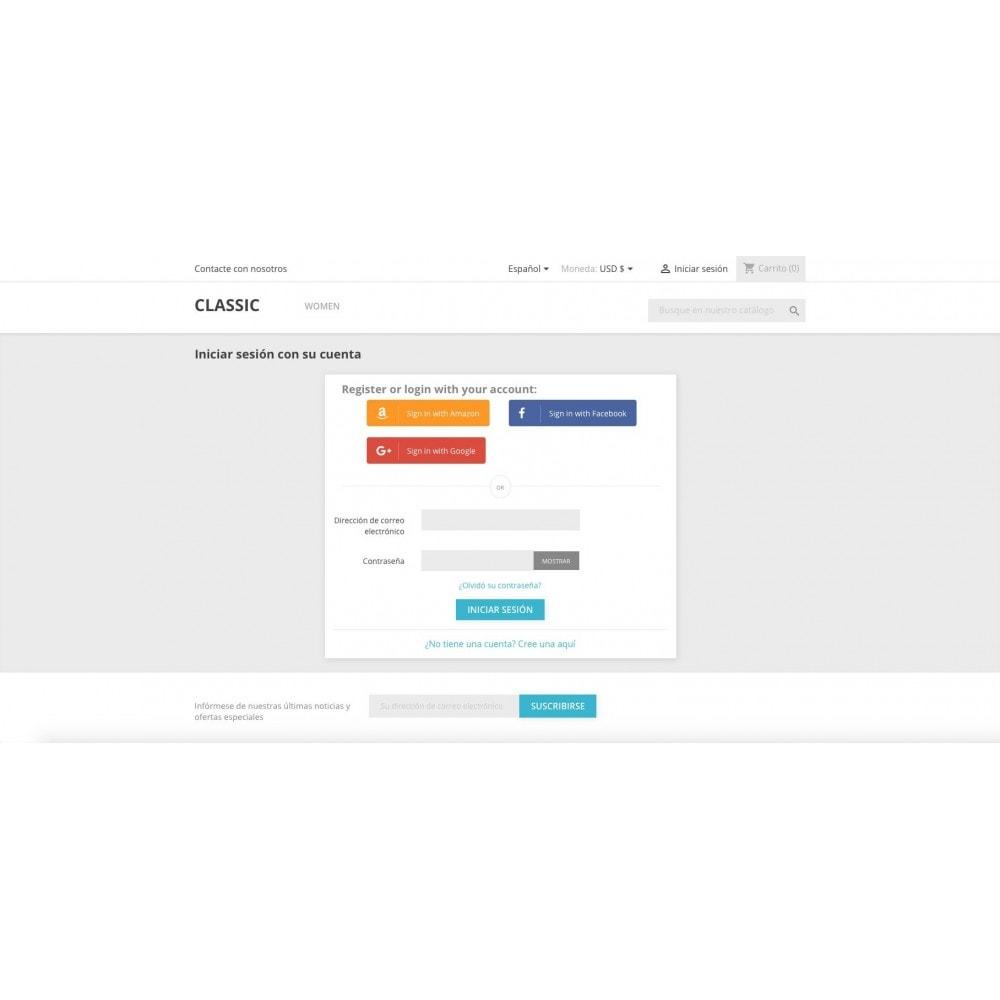 module - Botones de inicio de Sesión/Conexión - Conéctese con redes sociales - 5