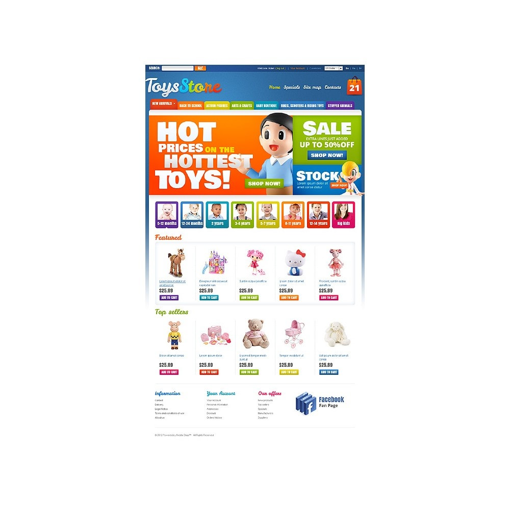 theme - Thèmes PrestaShop - Toys for Kids - 1