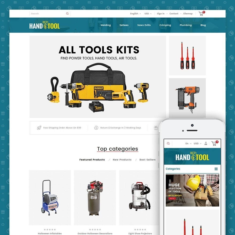 theme - Automotive & Cars - Hand Tools Store - 1