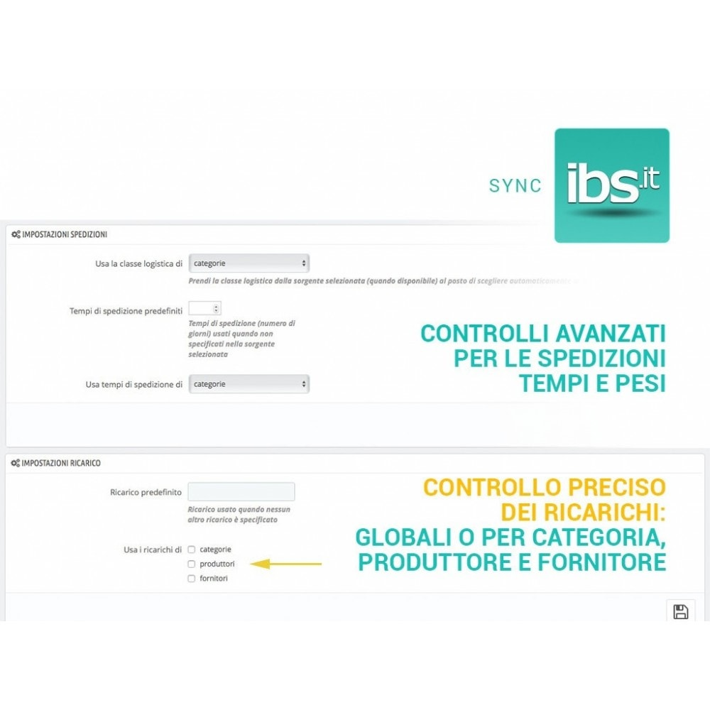 module - Marketplace - Sincronizza PrestaShop con il marketplace IBS.it - 3