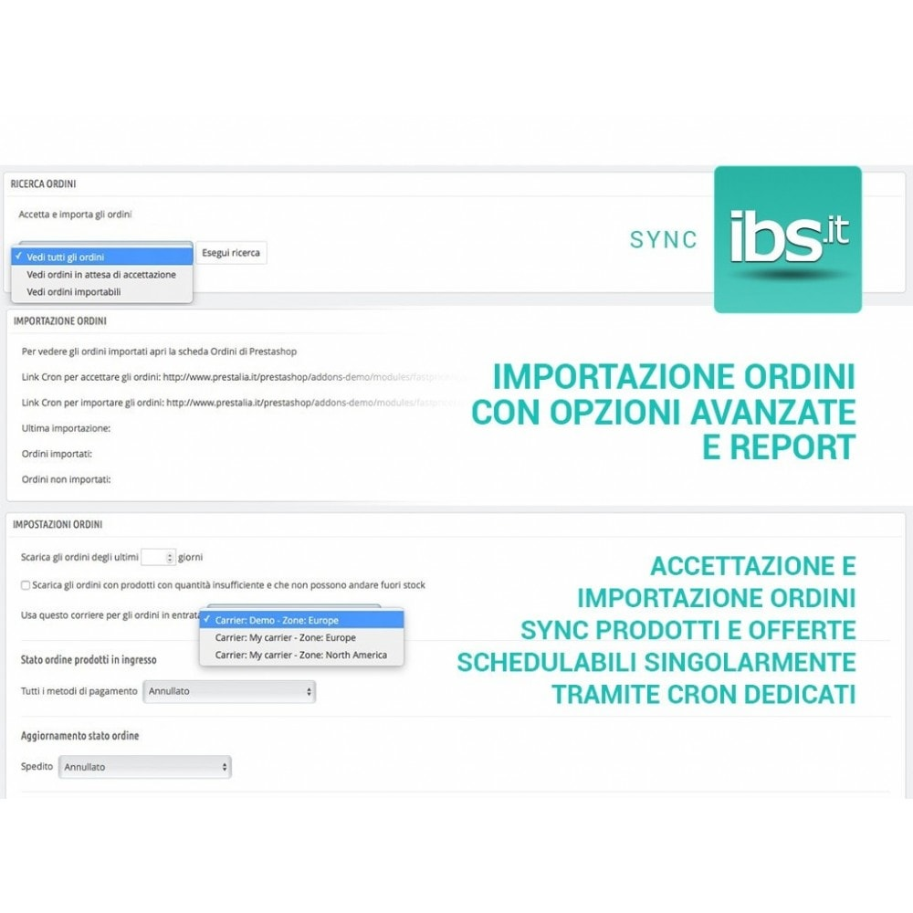 module - Marketplace - Sincronizza PrestaShop con il marketplace IBS.it - 6