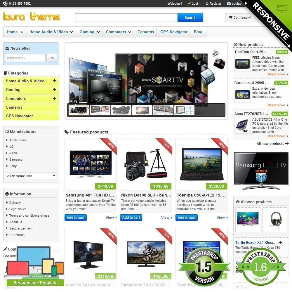 theme - Elektronica & High Tech - Laura Electronics Store - 1