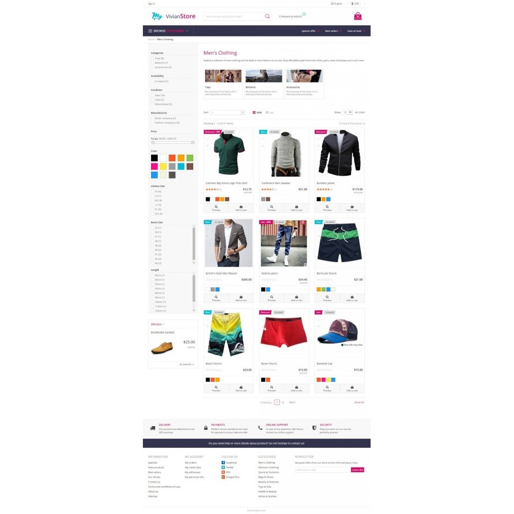 theme - Mode & Chaussures - Vivian Fashion Store - 4