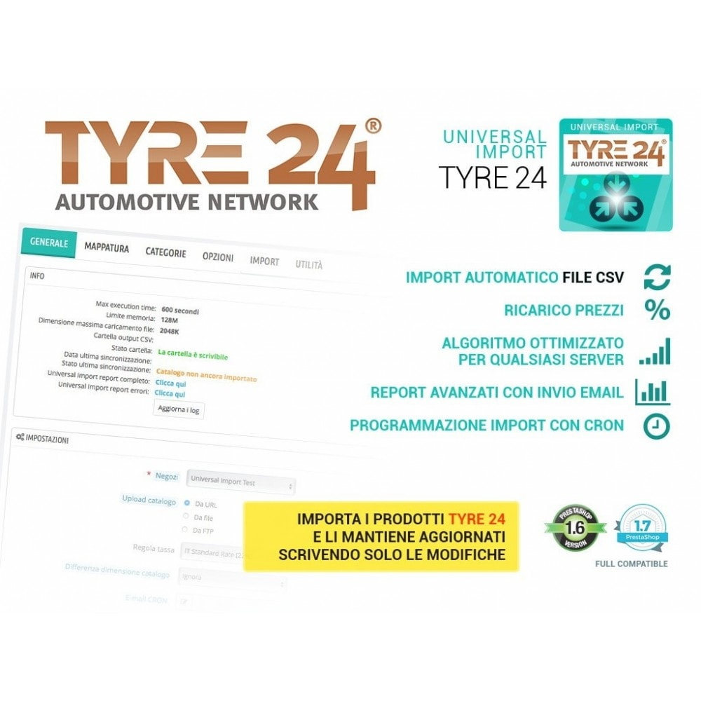module - Data Import & Export - Importa dropshipping Tyre24 in Prestashop - 1