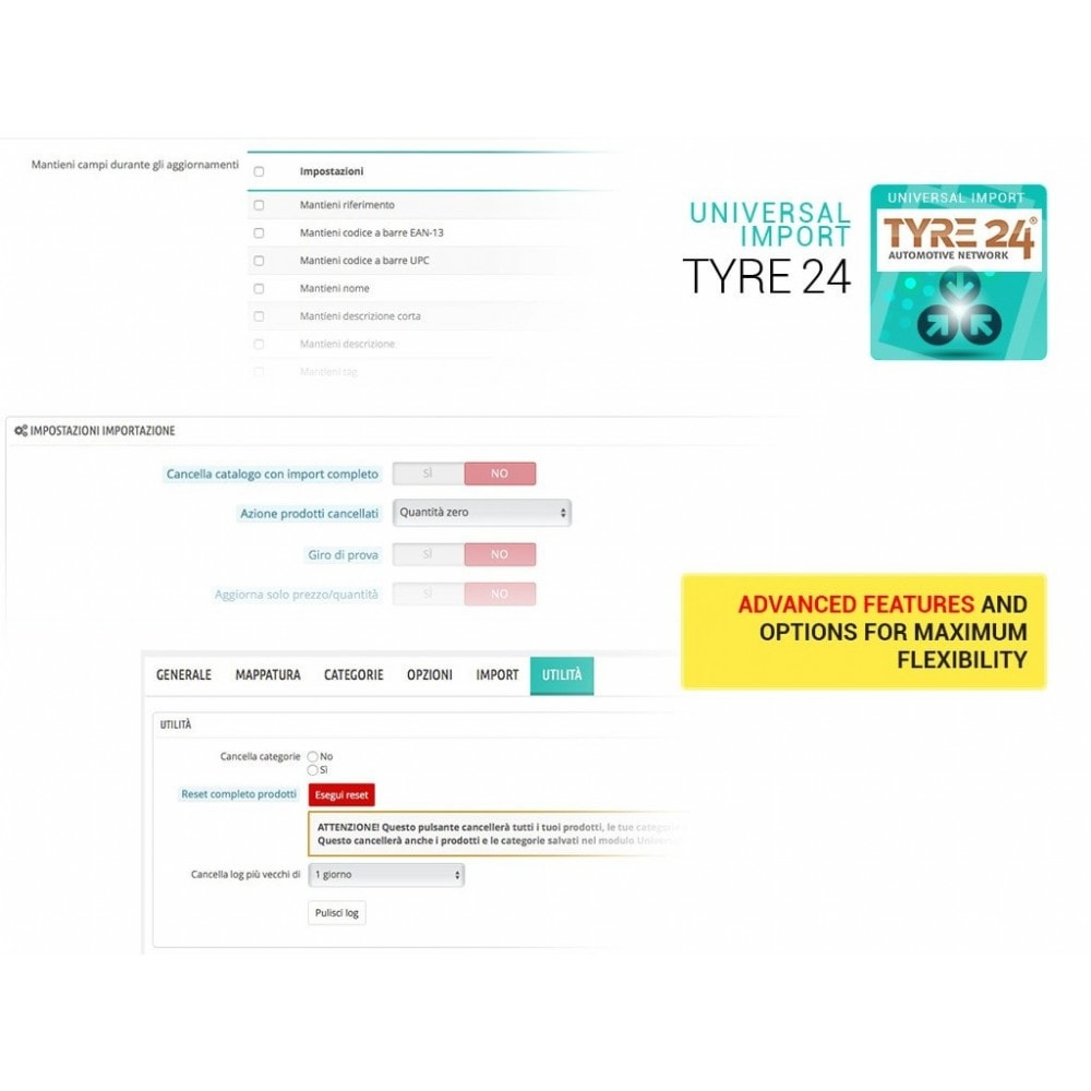 module - Data Import & Export - Import from Tyre24 dropshipping to Prestashop - 2
