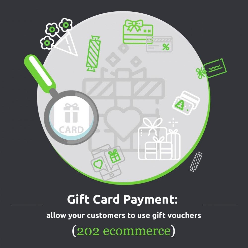 module - Zahlung per Kreditkarte oder Wallet - Gift card Payment - 1