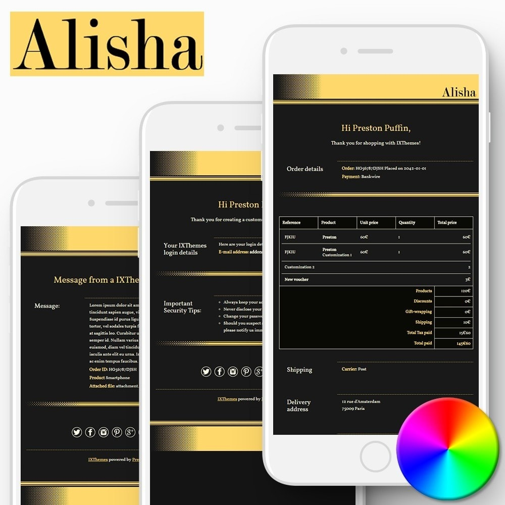 email - Email templates PrestaShop - Alisha - Email templates - 1