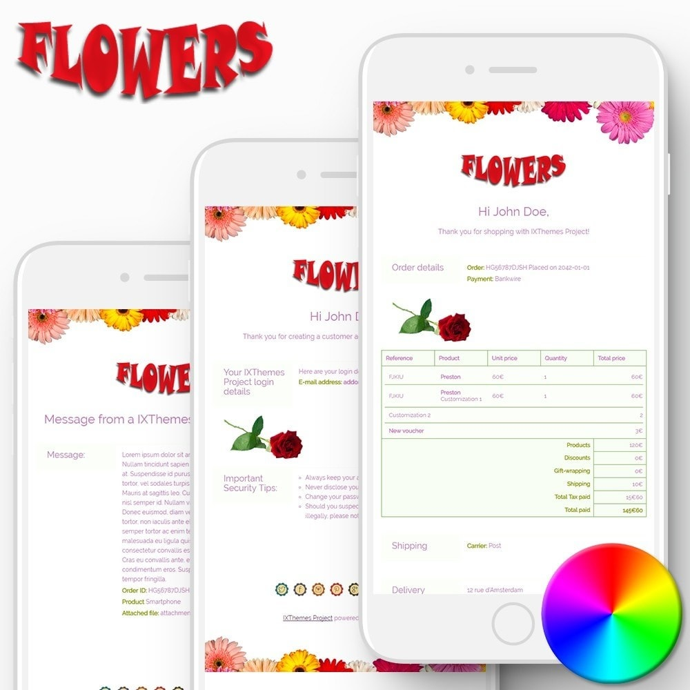 email - Email templates PrestaShop - Flowers - Email templates - 1