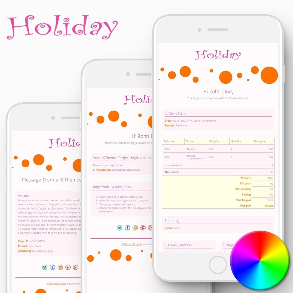 email - Template di e-mail PrestaShop - Holiday - Email templates - 1