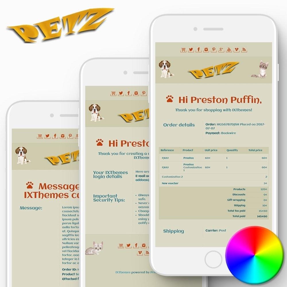 email - E-mailtemplates van PrestaShop - Petz - Email templates - 1