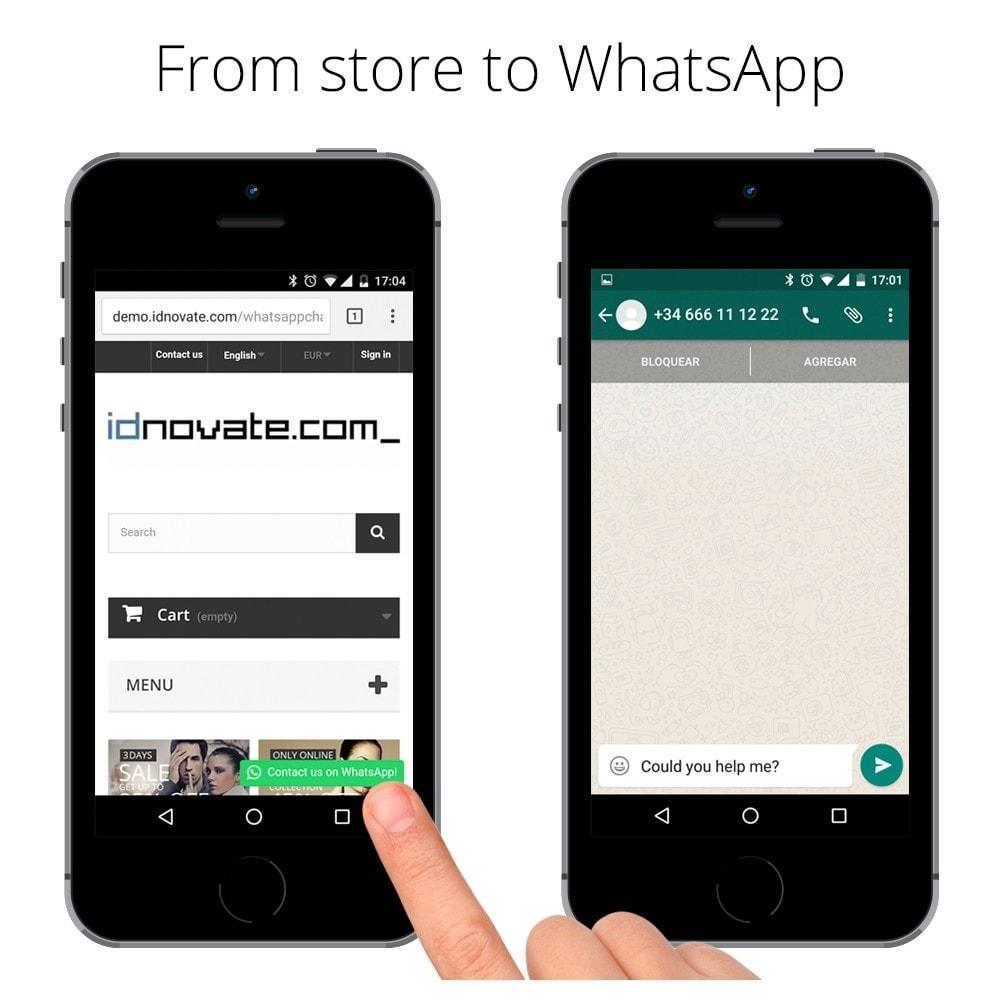 module - Wsparcie & Czat online - WhatsApp Live Chat With Customers et WhatsApp Business - 5
