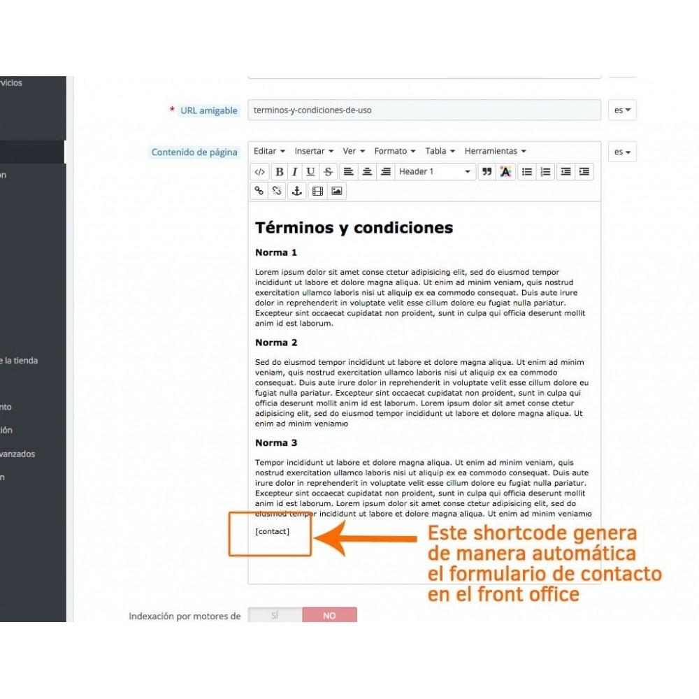 module - Formulario de contacto y Sondeos - Formulario de contacto en páginas CMS - 2
