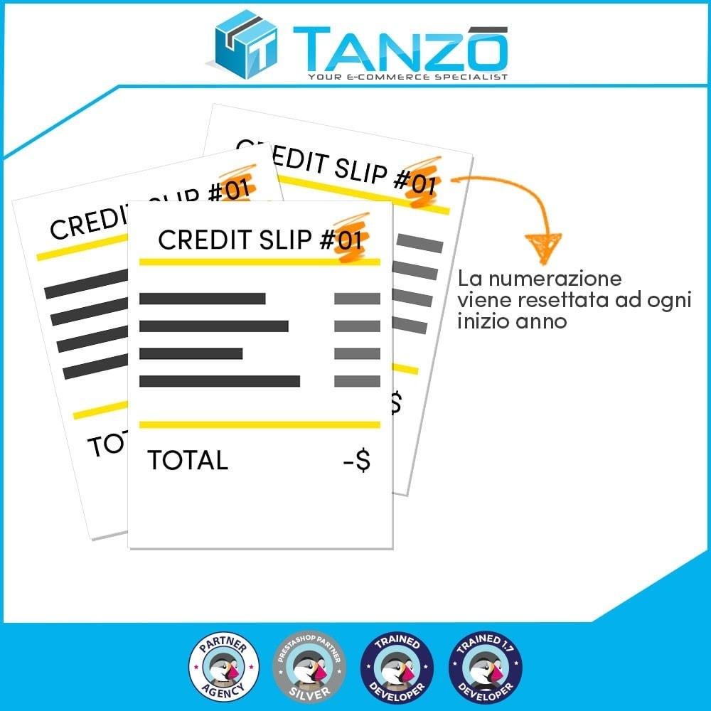 module - Contabilità & Fatturazione - Reset numerazione note di credito - 1