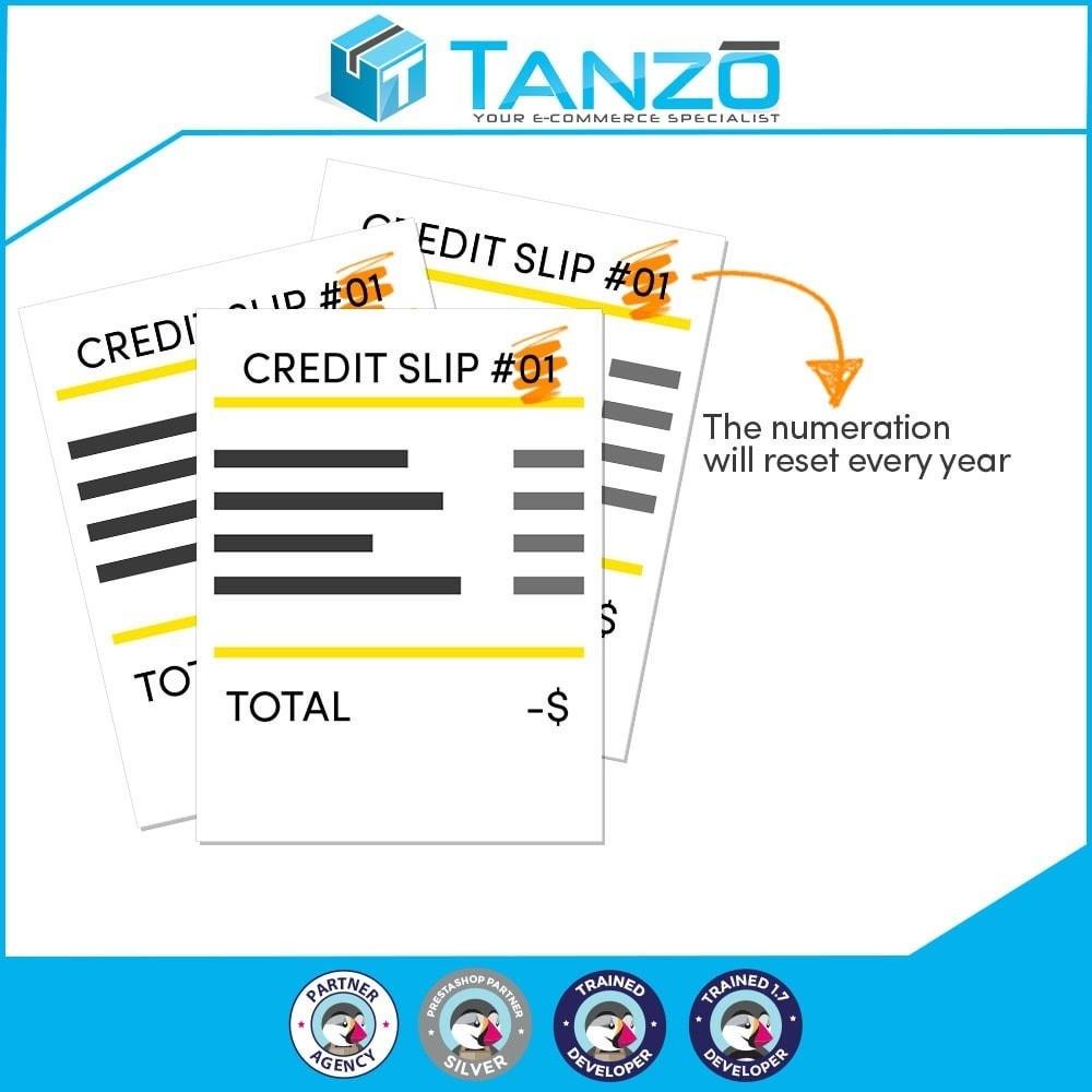 module - Buchhaltung & Rechnung - Reset credit slip numbering - 1