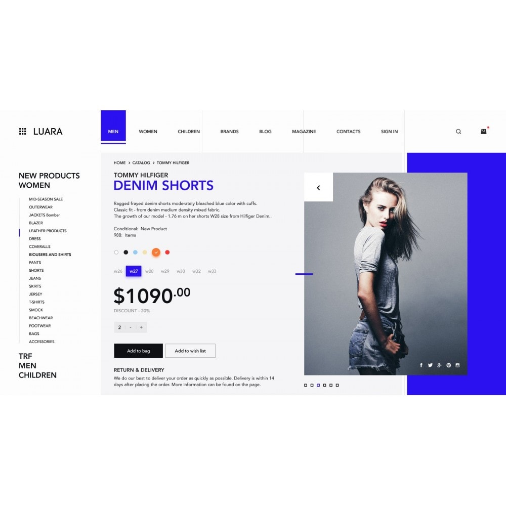 theme - Fashion & Shoes - Laura - Clothing Store - 4