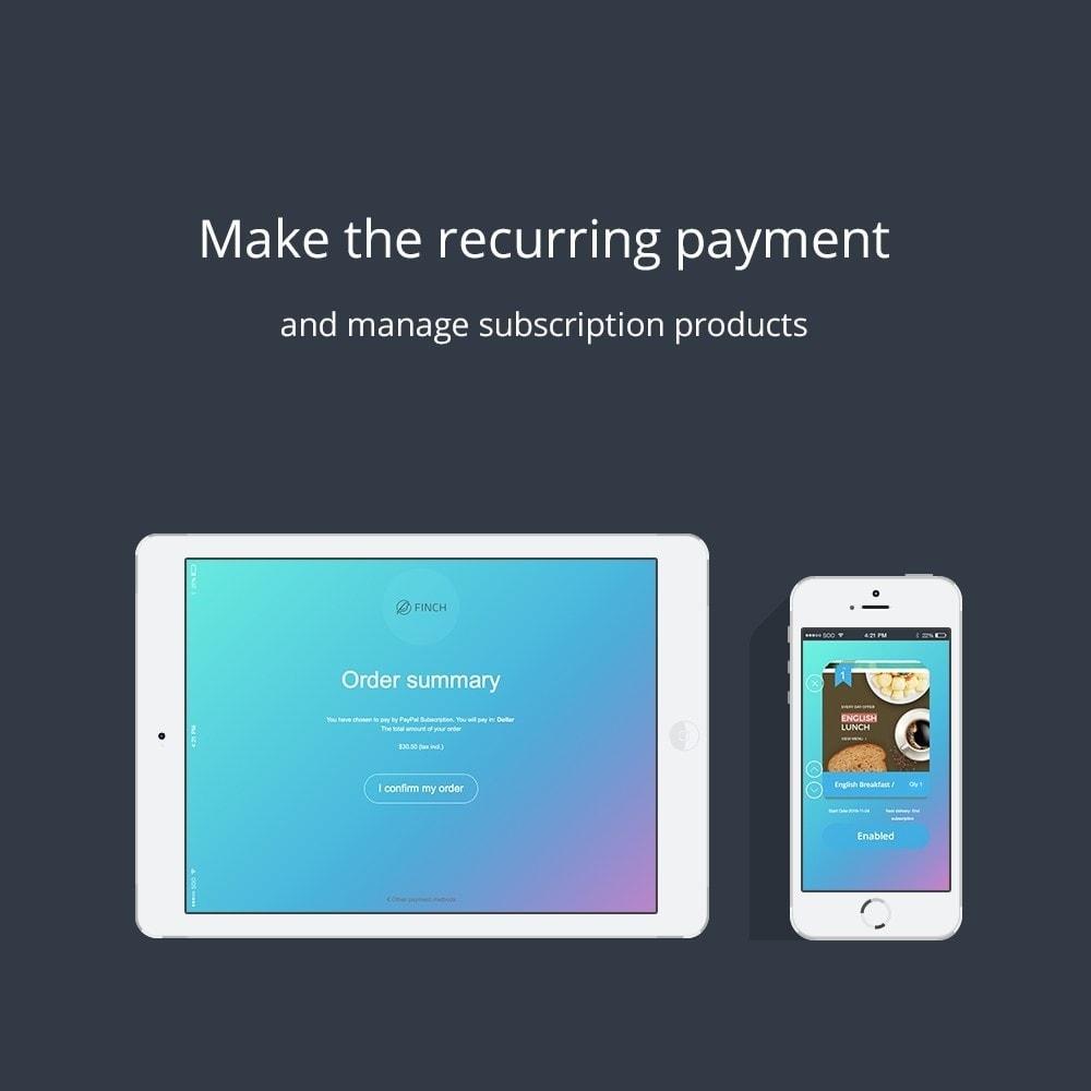 module - Paiement récurrent (abonnement) - ChargeMe - Paiements automatiques et récurrents - 5