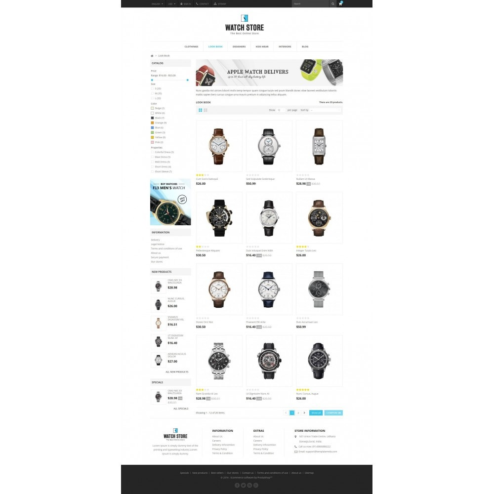theme - Biżuteria & Akcesoria - Latest Watch Store - 3