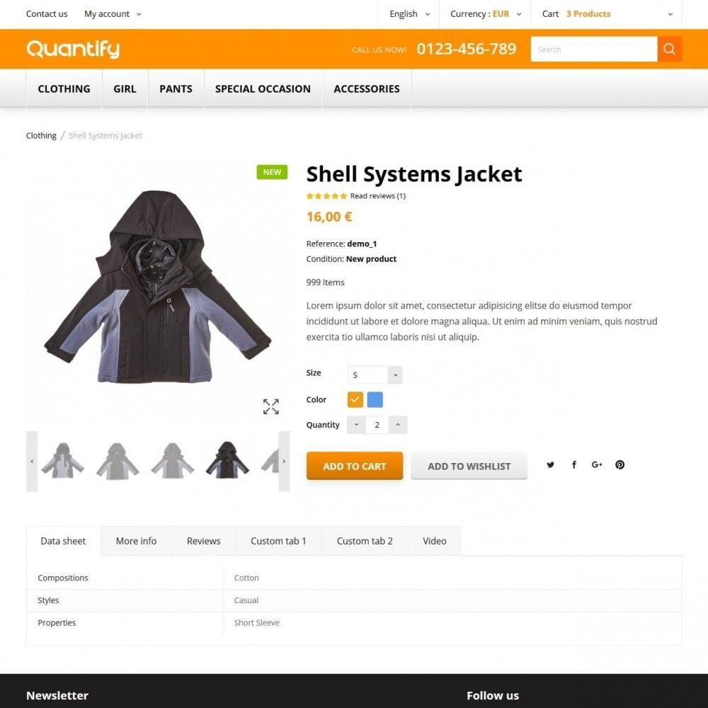 theme - Kinderen & Speelgoed - Quantify - Kids Clothes - 6