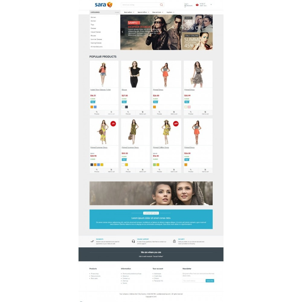 theme - Fashion & Shoes - Sara Fashion Store - 3