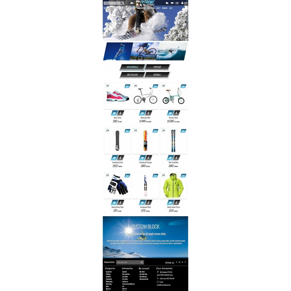 theme - Sports, Activities & Travel - Extreme Sport Store - 5