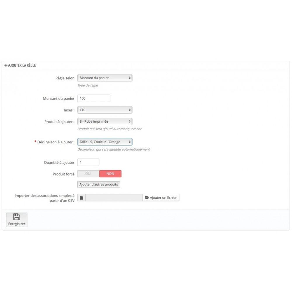 module - Ventes croisées & Packs de produits - Ajout automatique de produit au panier(assurance, etc.) - 7