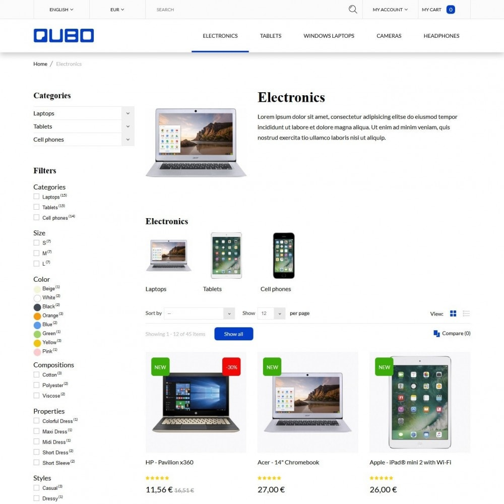 theme - Elettronica & High Tech - Qubo - High-tech Shop - 4