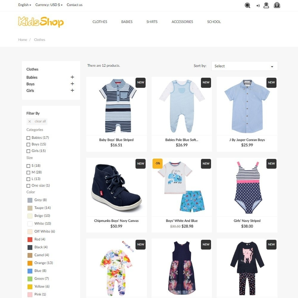 theme - Niños y Juguetes - KidsShop - 6