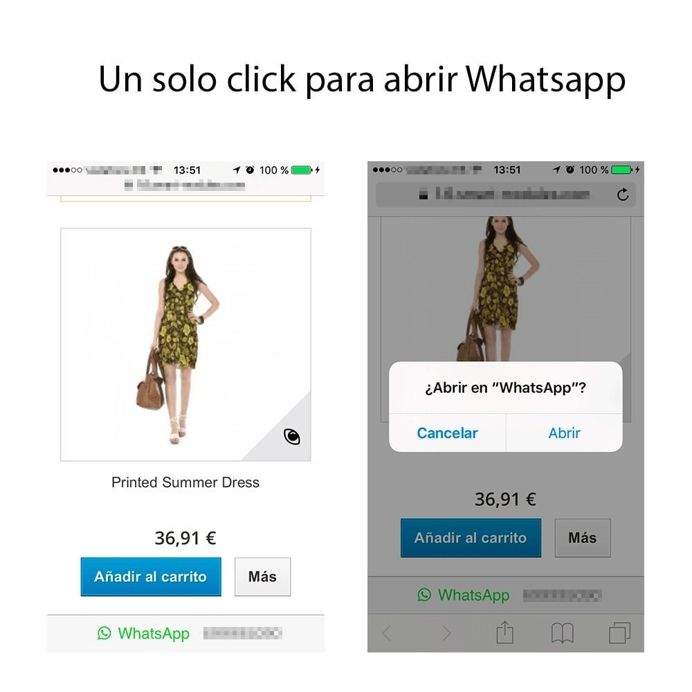 module - Dispositivos móviles - Información de Contacto por WhatsApp - 1