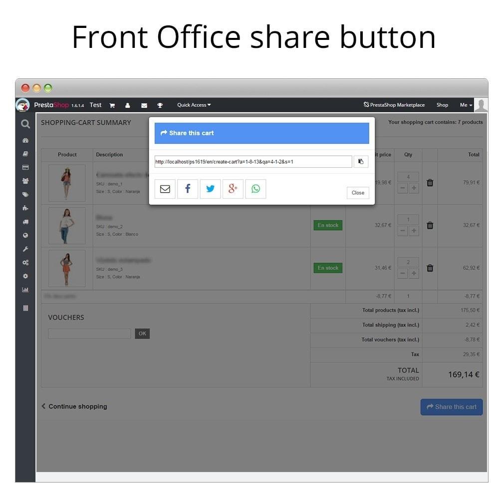 module - Кнопки 'Рассказать друзьям' и комментариев - Share and save cart - Create cart from URL - 5