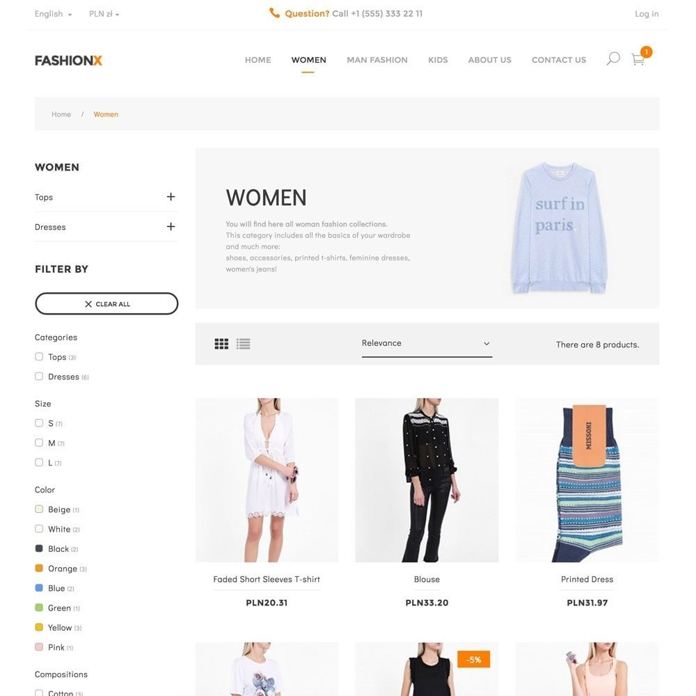 theme - Moda & Obuwie - FashionX - Fashion, Clothes, Boutique Store - 4