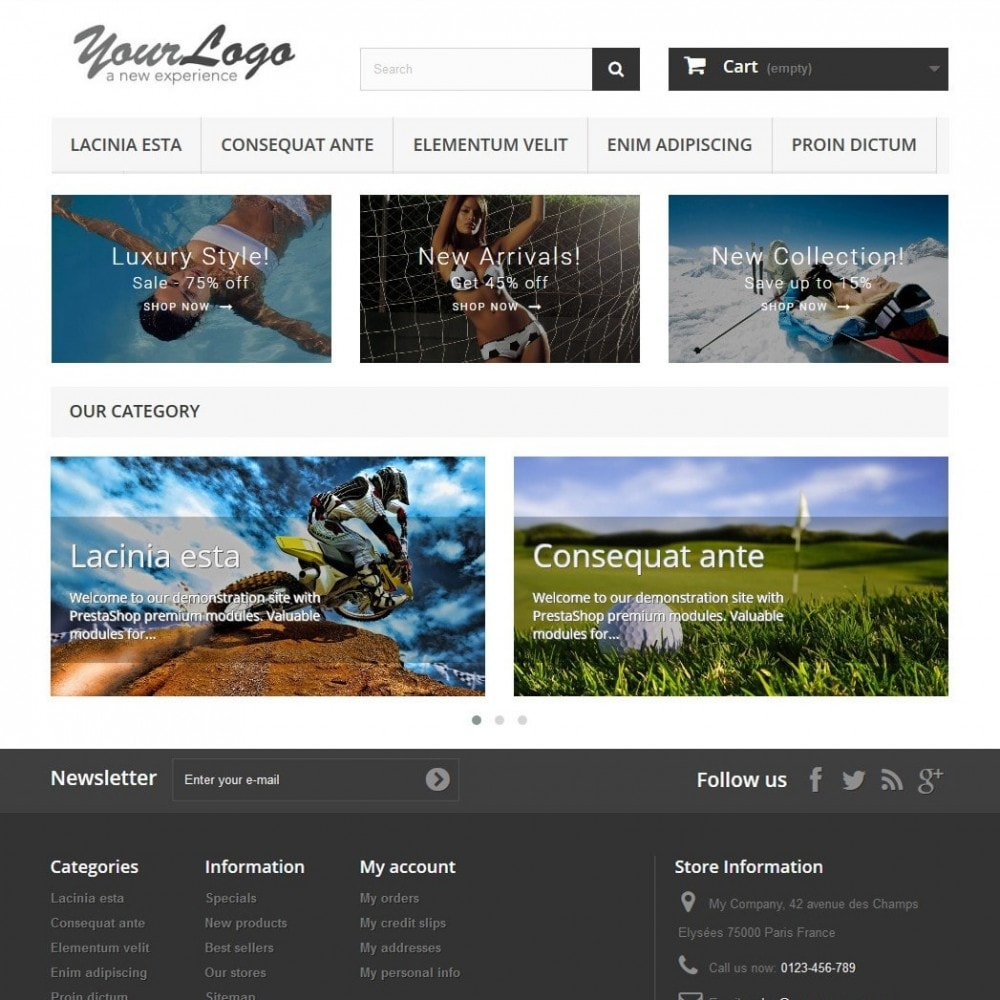 module - Gallerijen & Sliders - Responsive Carousel with Categories - 2