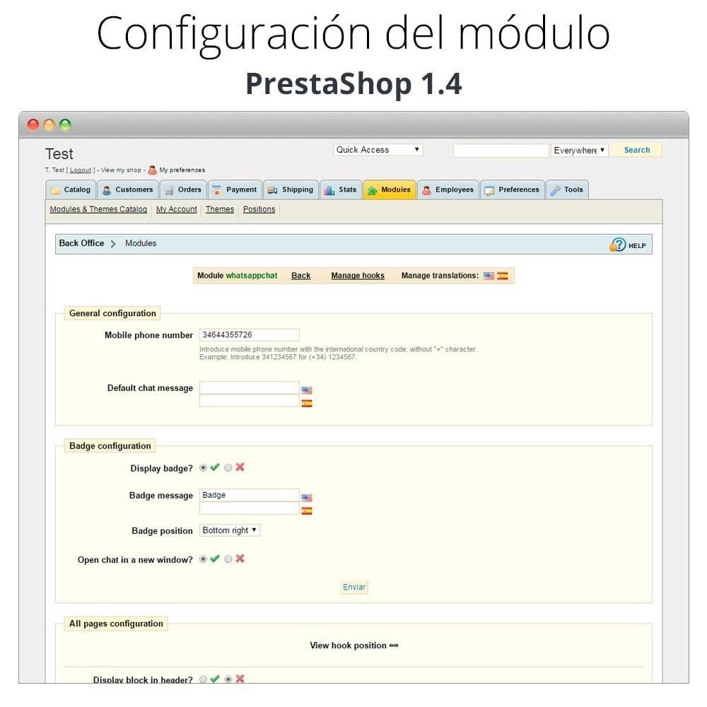 module - Asistencia & Chat online - WhatsApp - Chat con clientes y WhatsApp para Negocios - 18
