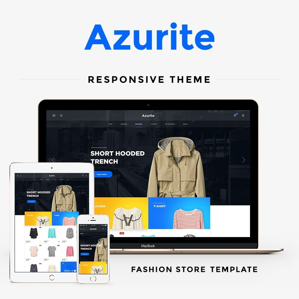 theme - Fashion & Shoes - Azurite Fashion Store - 1