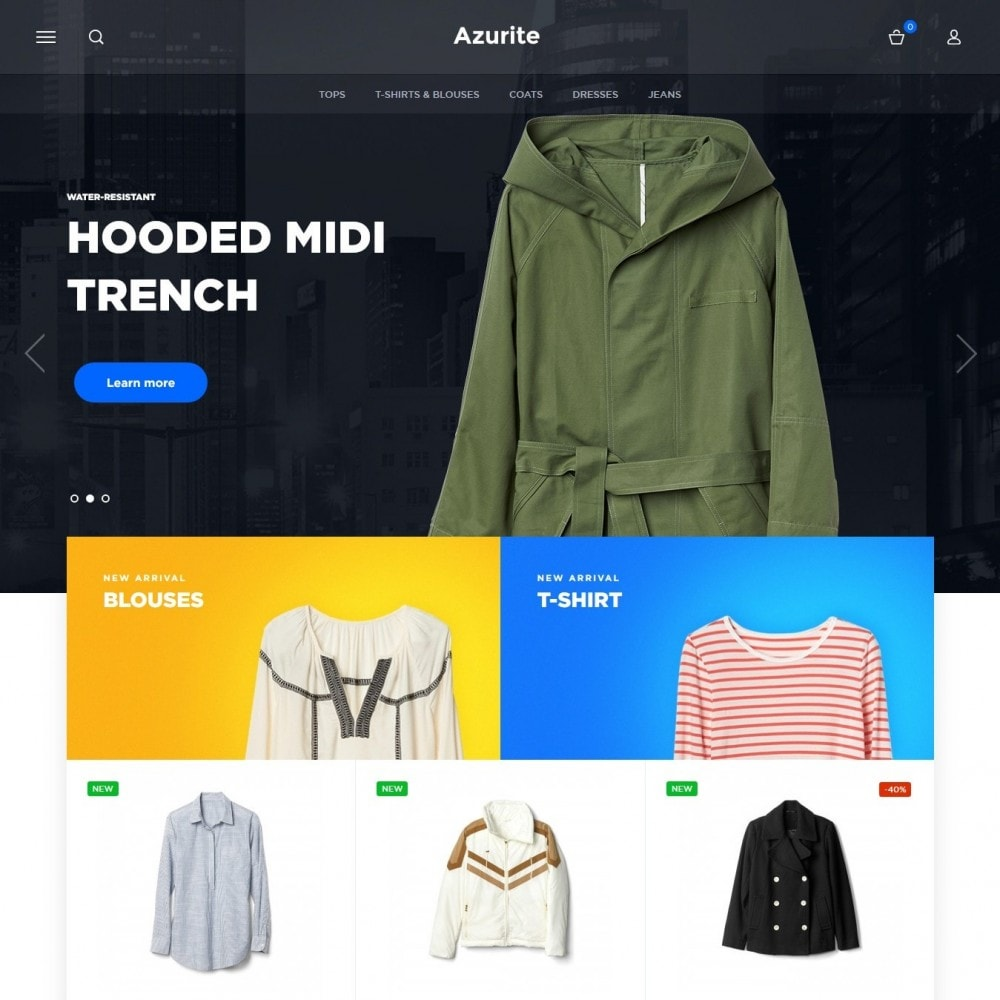 theme - Мода и обувь - Azurite Fashion Store - 2