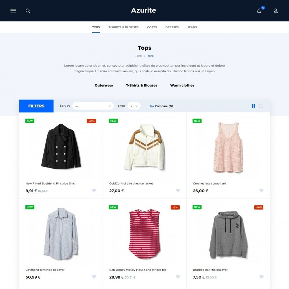 theme - Mode & Chaussures - Azurite Fashion Store - 4