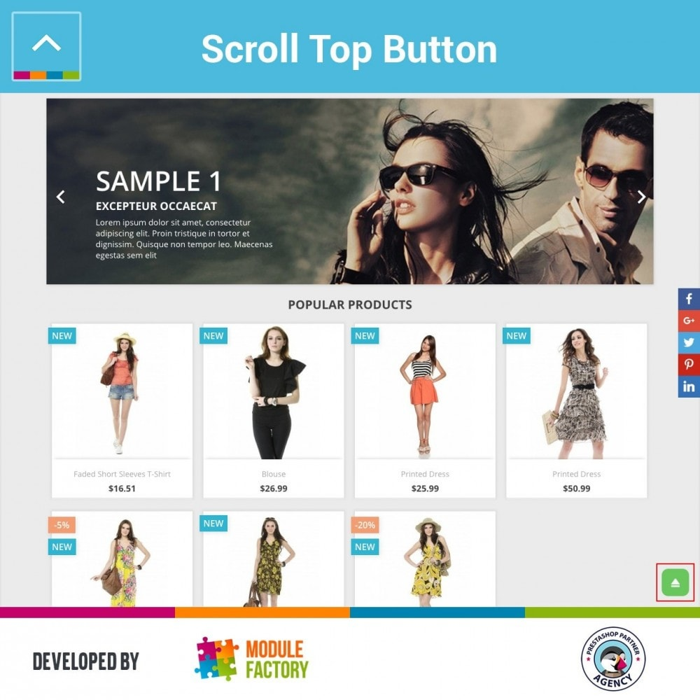 module - Tool di navigazione - Scroll Top Button - 2