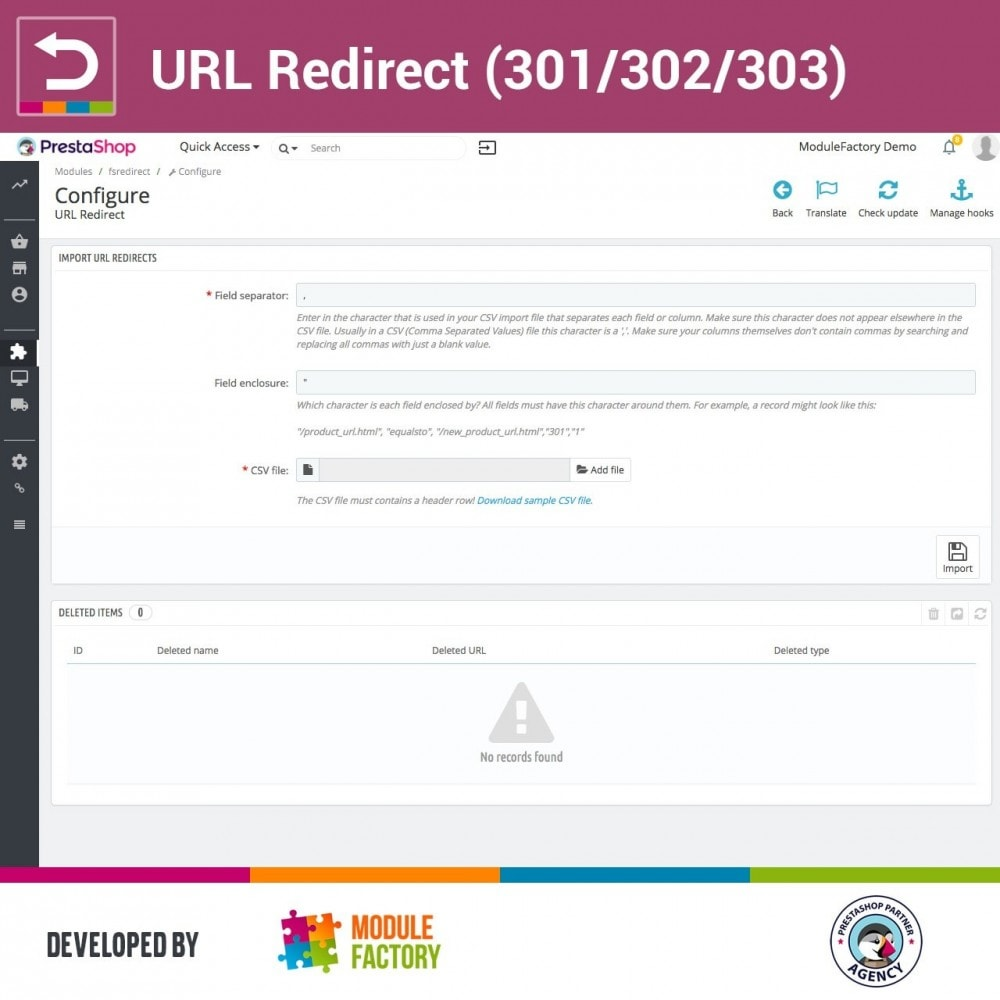 module - URL & Redirections - URL Redirect (301/302/303) - 2