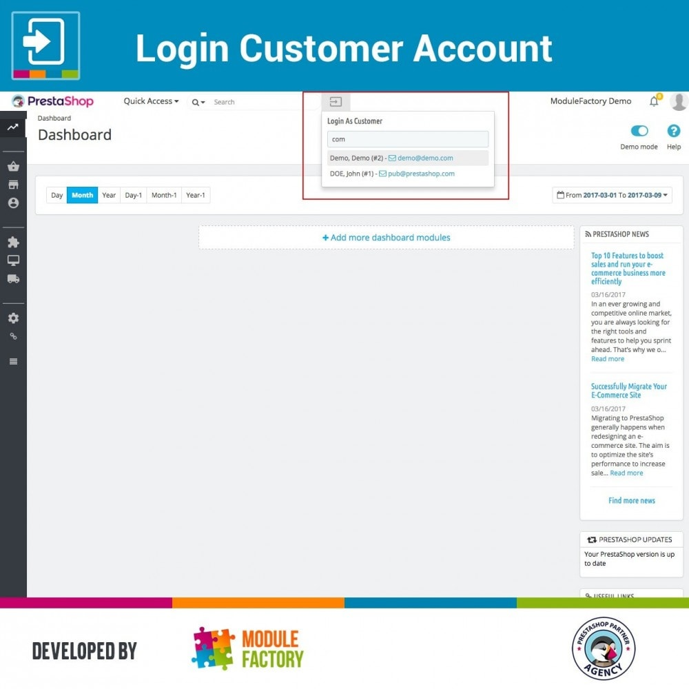 module - Servicio posventa - Login Customer Account - 1