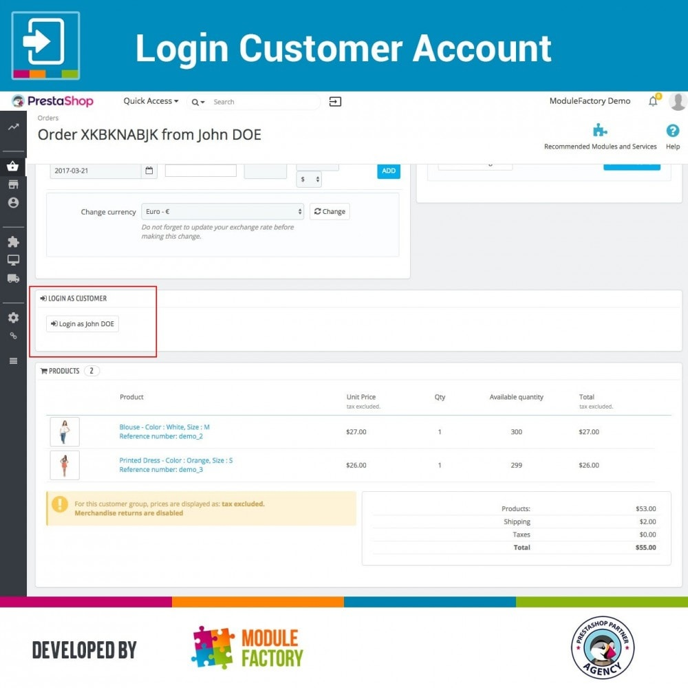 module - Service Client - Login Customer Account - 4