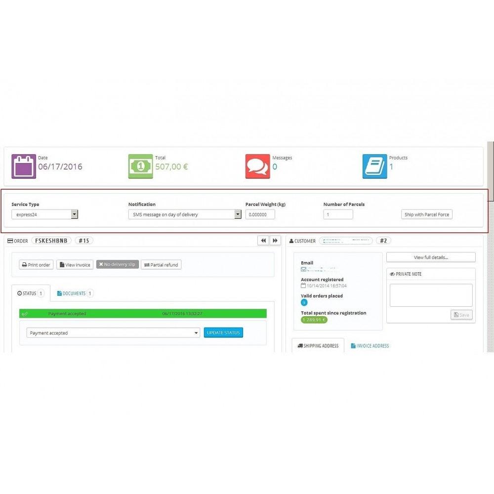 module - Kommissionierung & Versand - Parcelforce Label - 3