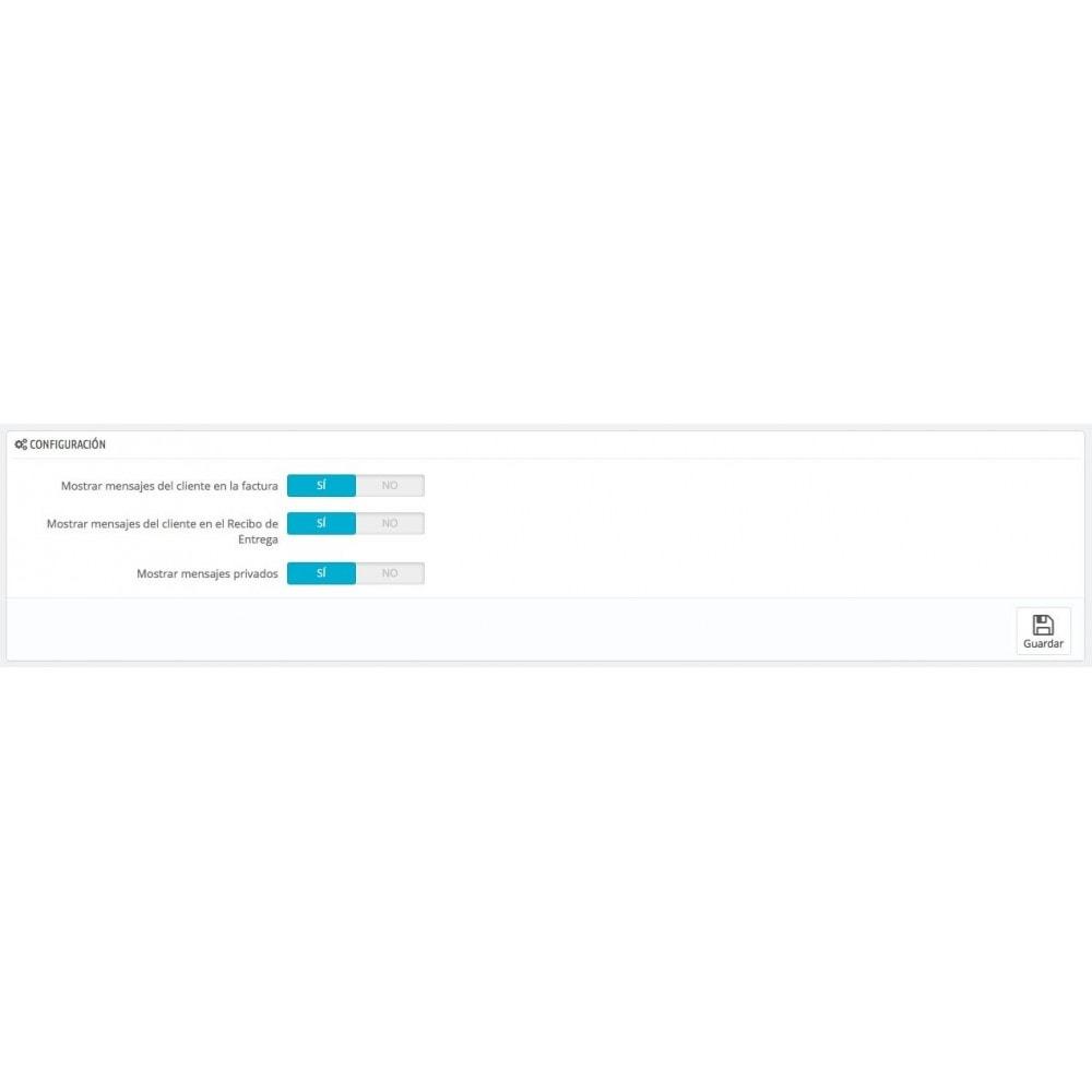 module - Gestión de Pedidos - Mensajes del Cliente en Factura y/o Recibo de Entrega - 1