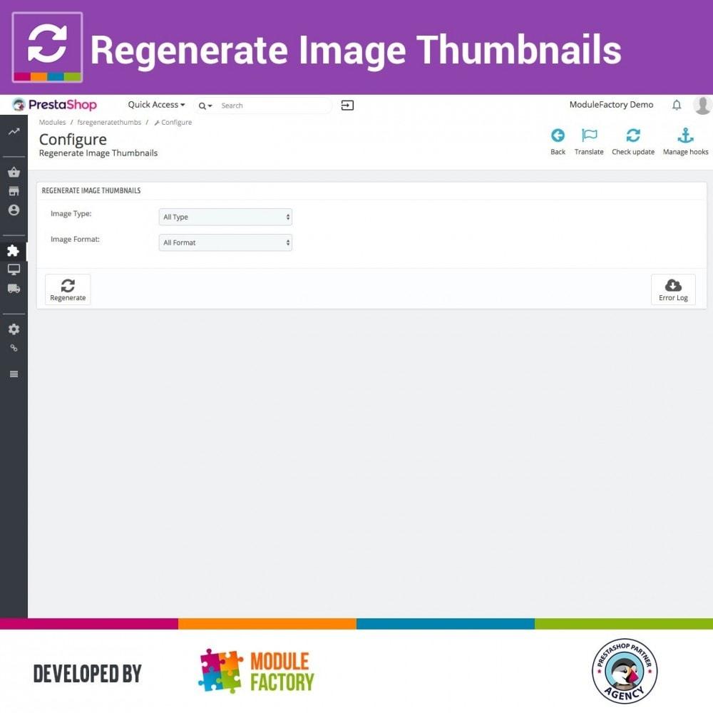 module - Visuels des produits - Regenerate Image Thumbnails - 1