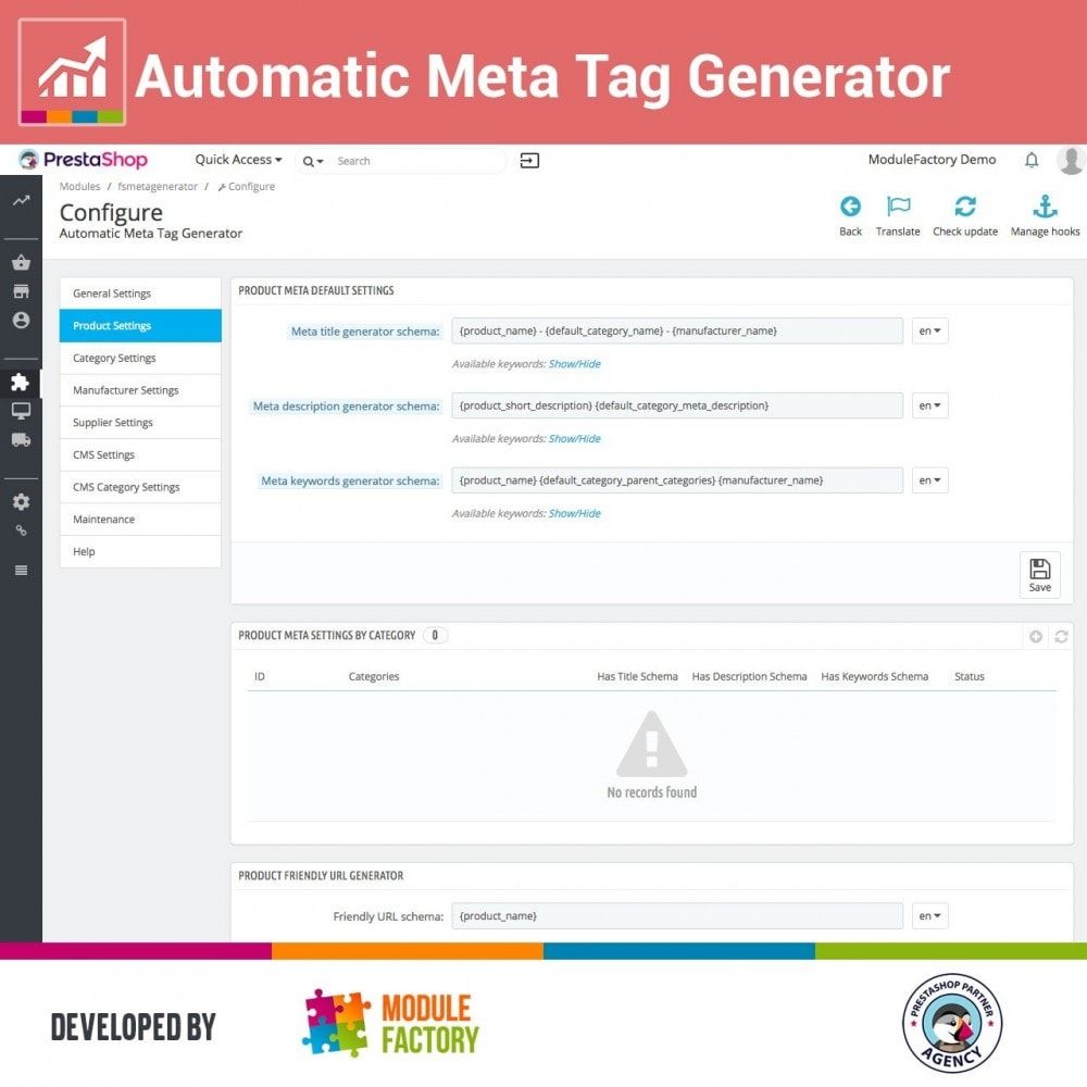 module - SEO (Referenciamento natural) - Automatic Meta Tag Generator for better SEO - 2