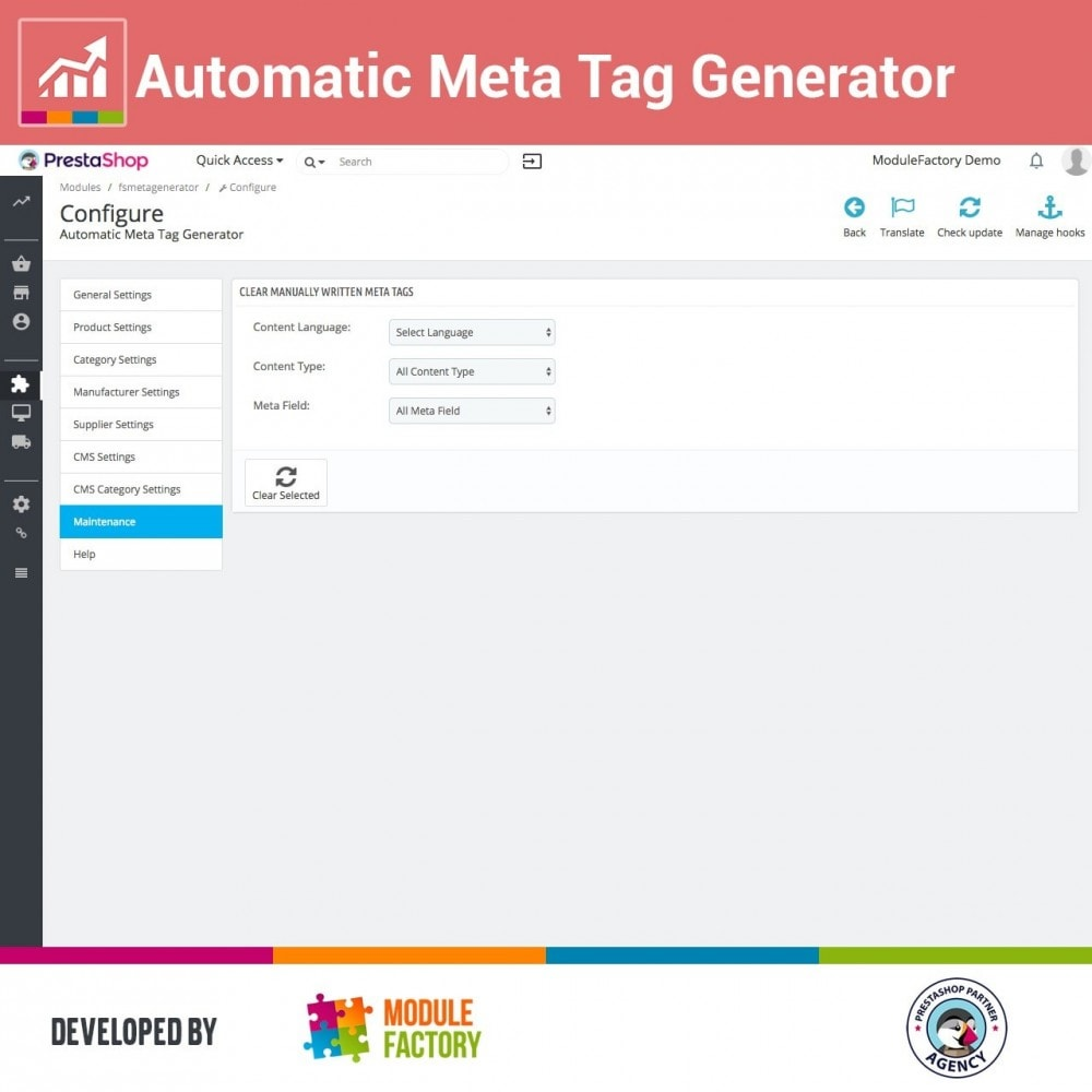 module - SEO (Referenciamento natural) - Automatic Meta Tag Generator for better SEO - 3