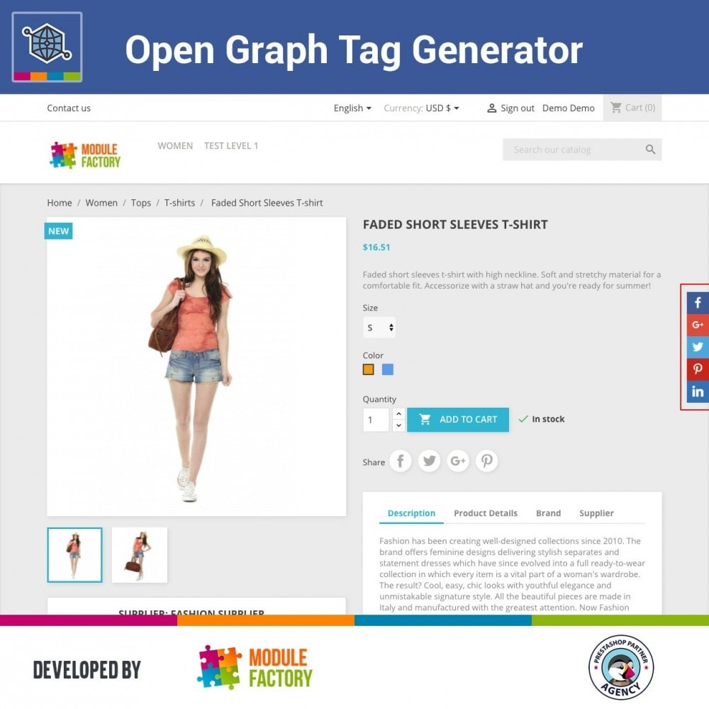 module - SEO (natural Search Engine Optimization) - Automatic Open Graph Tag Generator + Share Buttons - 1