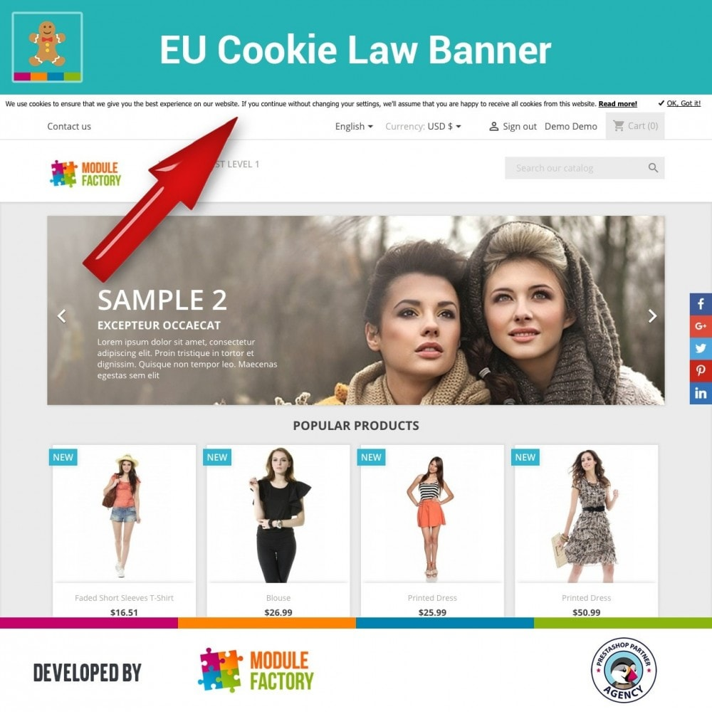 module - Marco Legal (Ley Europea) - EU Cookie Law Alert Banner and Cookie Blocker - 2
