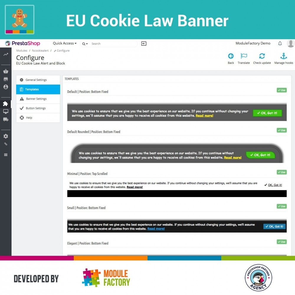 module - Legal - EU Cookie Law Alert Banner and Cookie Blocker - 6