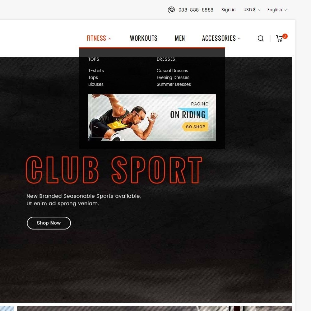 theme - Sports, Activities & Travel - Sports Club - 9